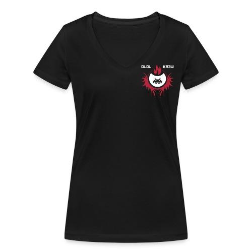 T-Shirt oLoL Kr3w Femme - T-shirt bio col V Stanley & Stella Femme
