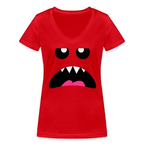 Little Bitchy Critter - Økologisk Stanley & Stella T-shirt med V-udskæring til damer