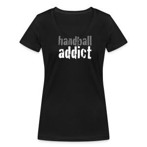 Handballaddict V-Shirt W - Frauen Bio-T-Shirt mit V-Ausschnitt von Stanley & Stella