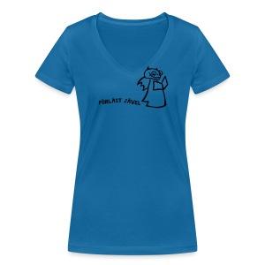 FÖRLÄST JÄVEL - Ekologisk T-shirt med V-ringning dam från Stanley & Stella