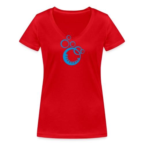 BOKBUBBLA - Ekologisk T-shirt med V-ringning dam från Stanley & Stella
