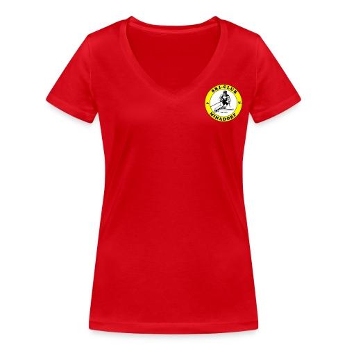T-Shirt Damen - Frauen Bio-T-Shirt mit V-Ausschnitt von Stanley & Stella
