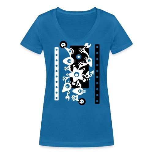 Design 18 10 - Frauen Bio-T-Shirt mit V-Ausschnitt von Stanley & Stella