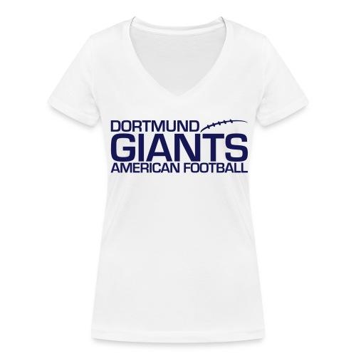 Damen V T-Shirt weiß - Frauen Bio-T-Shirt mit V-Ausschnitt von Stanley & Stella