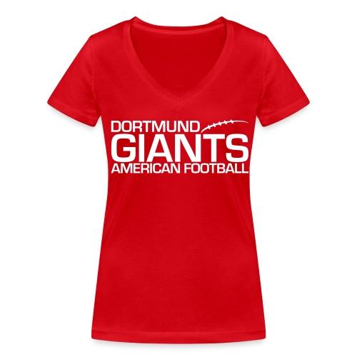 Damen V T-Shirt rot - Frauen Bio-T-Shirt mit V-Ausschnitt von Stanley & Stella