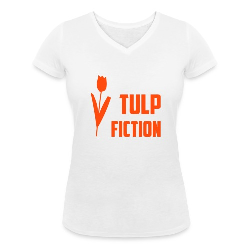 Girlieshirt voor Koningsdag Tulp Fiction - Vrouwen bio T-shirt met V-hals van Stanley & Stella