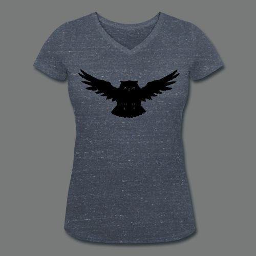 Eule im Angriff - Frauen Bio-T-Shirt mit V-Ausschnitt von Stanley & Stella