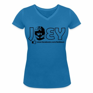 The Official Joey Dunlop Facebook T-Shirt - Ladies - Women's Organic V-Neck T-Shirt by Stanley & Stella