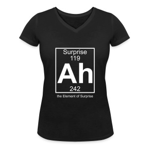 Ah, the Element of Surprise - Women's Organic V-Neck T-Shirt by Stanley & Stella