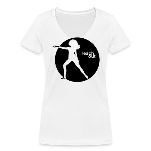 Reach Out - Shirt hell - Frauen Bio-T-Shirt mit V-Ausschnitt von Stanley & Stella