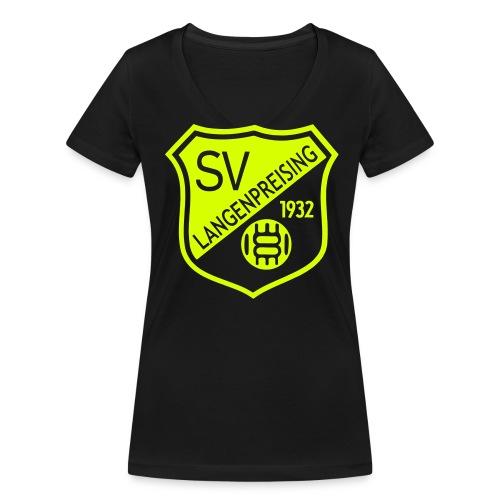 Fanshirt Damen - Frauen Bio-T-Shirt mit V-Ausschnitt von Stanley & Stella