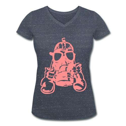 CASHISCLAY Damen Shirt - Frauen Bio-T-Shirt mit V-Ausschnitt von Stanley & Stella