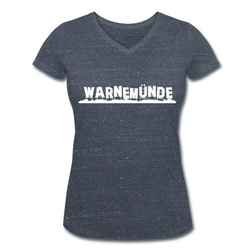 Warnemünde, nicht Hollywood (Damen) - Frauen Bio-T-Shirt mit V-Ausschnitt von Stanley & Stella