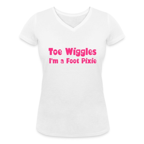 Toe Wiggles Ladies T-Shirt - Women's Organic V-Neck T-Shirt by Stanley & Stella