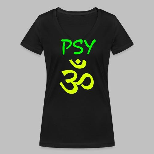 Psy GOA (Om) - Text PSY - Frauen Bio-T-Shirt mit V-Ausschnitt von Stanley & Stella