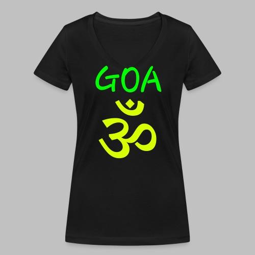 Psy GOA (Om) - Text GOA - Frauen Bio-T-Shirt mit V-Ausschnitt von Stanley & Stella