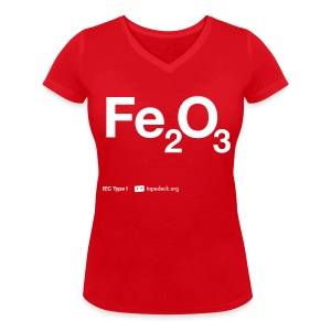 IEC Type I - Fe2O3 - Women's Organic V-Neck T-Shirt by Stanley & Stella