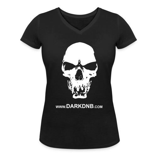 Dark Skull / DnB Women's V-Neck T-Shirt - Women's Organic V-Neck T-Shirt by Stanley & Stella
