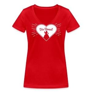Die Braut - Junggesellinnenabschied Shirt - Frauen Bio-T-Shirt mit V-Ausschnitt von Stanley & Stella