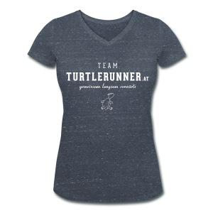 Motto-V-Shirt Women mit Team-Logo - Frauen Bio-T-Shirt mit V-Ausschnitt von Stanley & Stella