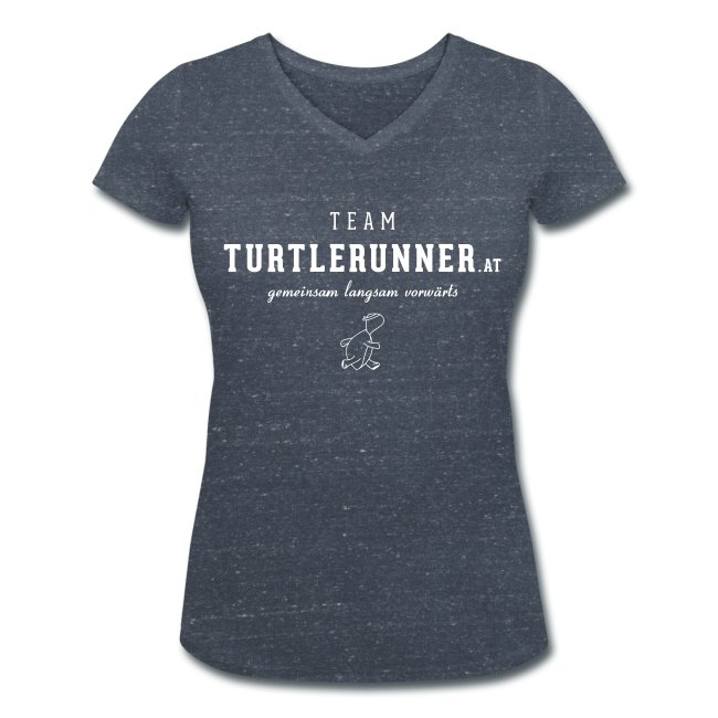 Motto-V-Shirt Women mit Team-Logo