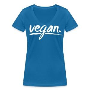 simply: vegan - Frauen Bio-T-Shirt mit V-Ausschnitt von Stanley & Stella