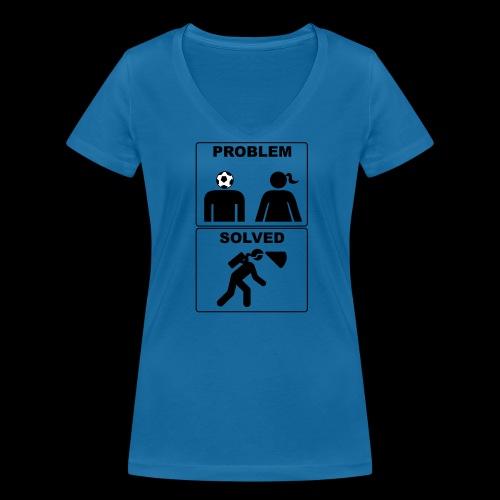 Prolem Solved - T-shirt ecologica da donna con scollo a V di Stanley & Stella