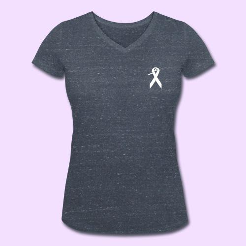 T-shirt met V-hals en klein contrast logo - Vrouwen bio T-shirt met V-hals van Stanley & Stella