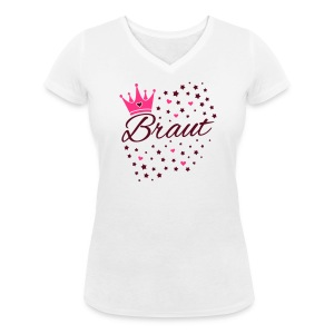 Braut Sternenhimmel Herzen und Krone - Frauen Bio-T-Shirt mit V-Ausschnitt von Stanley & Stella
