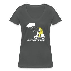 Schietwetterfahrer Frauen Shirt - Frauen Bio-T-Shirt mit V-Ausschnitt von Stanley & Stella
