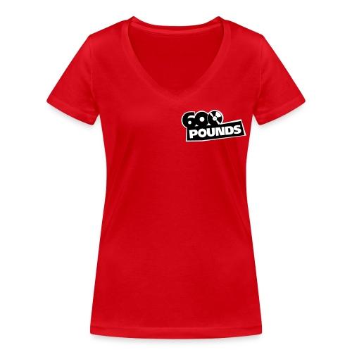 Girlieshirt mit V-Ausschnitt mit kleinem S/W-Logo vorne und großem hinten - Frauen Bio-T-Shirt mit V-Ausschnitt von Stanley & Stella