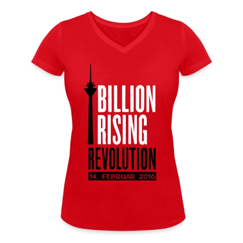 One Billion Rising 2016 Düsseldorf - Frauen Bio-T-Shirt mit V-Ausschnitt von Stanley & Stella