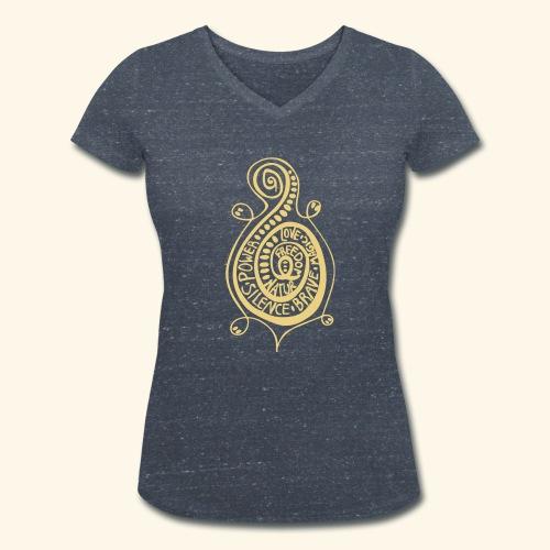 Kringel Schildkröte T-Shirt - Frauen Bio-T-Shirt mit V-Ausschnitt von Stanley & Stella