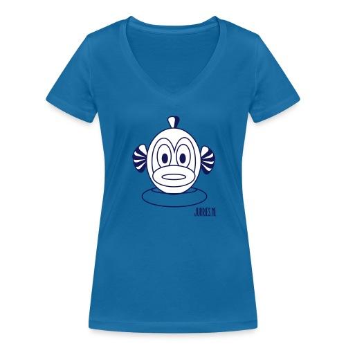 Vrouwen t-shirt Finne - Vrouwen bio T-shirt met V-hals van Stanley & Stella