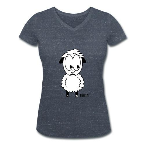 Vrouwen t-shirt Wolle - Vrouwen bio T-shirt met V-hals van Stanley & Stella