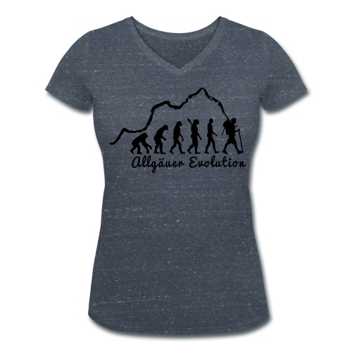 """Frauen T-Shirt """"Allgäuer Evolution"""" - Frauen Bio-T-Shirt mit V-Ausschnitt von Stanley & Stella"""