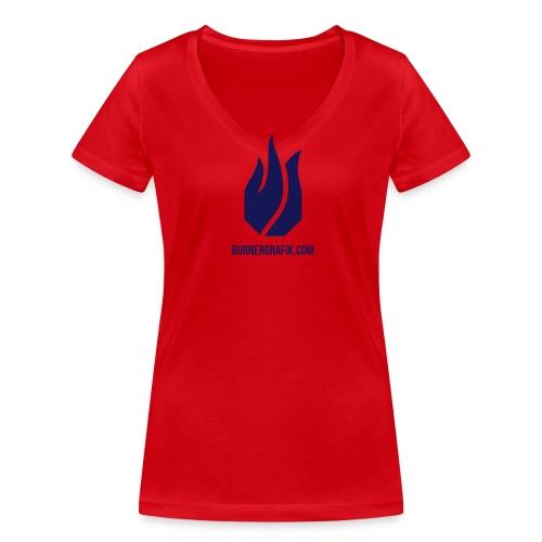 pure Flamme - Frauen Bio-T-Shirt mit V-Ausschnitt von Stanley & Stella