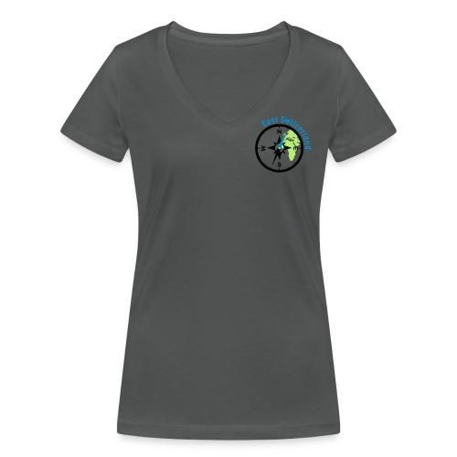 Ladies VShirt Logo 3farbig - Frauen Bio-T-Shirt mit V-Ausschnitt von Stanley & Stella