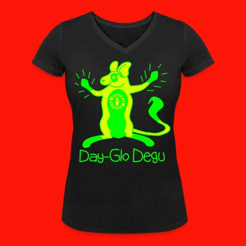 Day-Glo Degu Ladies Vee Tee - Women's Organic V-Neck T-Shirt by Stanley & Stella