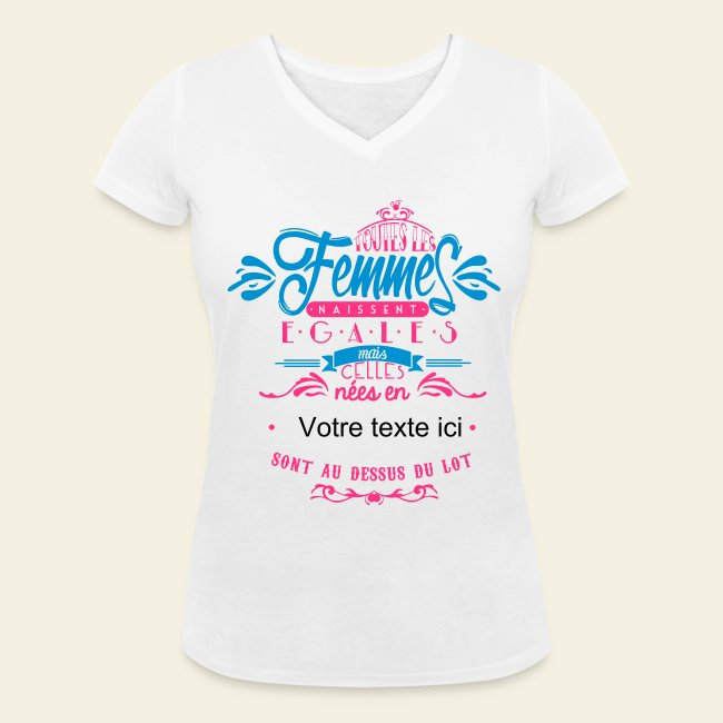 Tee Shirt Anniversaire Femme Customisable