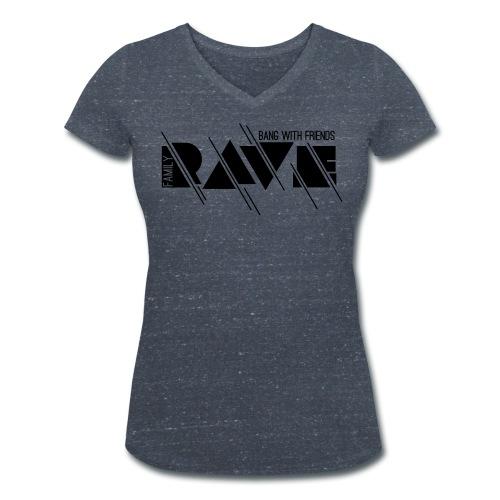 Frauen T-Shirt mit V-Ausschnitt // RAVE (Logo schwarz) - Frauen Bio-T-Shirt mit V-Ausschnitt von Stanley & Stella