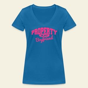 Property of my boyfriend - T-shirt bio col V Stanley & Stella Femme