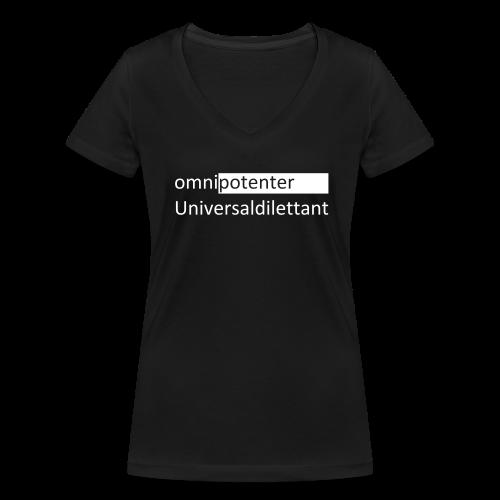 Frauen Bio-T-Shirt mit V-Ausschnitt von Stanley & Stella - Allmächtiger Nichtskönner