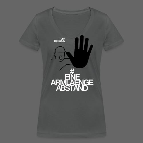 EAA1_GIRL_T_GRY - Frauen Bio-T-Shirt mit V-Ausschnitt von Stanley & Stella