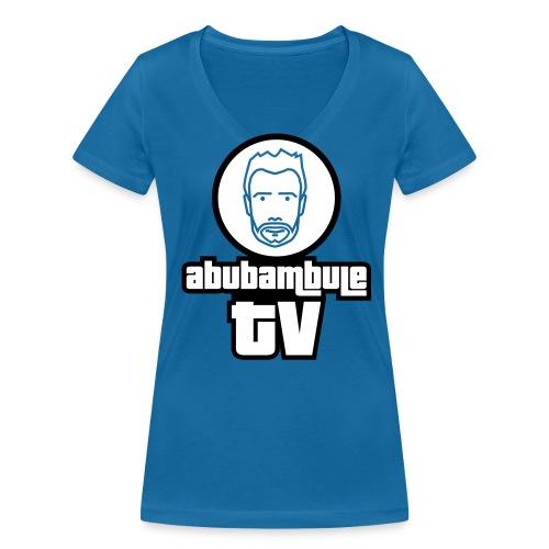 Damen T-Shirt V-Ausschnitt - Abubambule TV Logo in verschiedenen Farben - Frauen Bio-T-Shirt mit V-Ausschnitt von Stanley & Stella