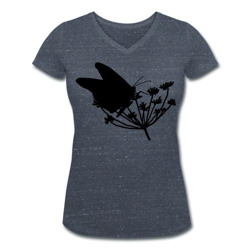 Vrouwen t-shirt v-hals 'Butterfly' - Vrouwen bio T-shirt met V-hals van Stanley & Stella