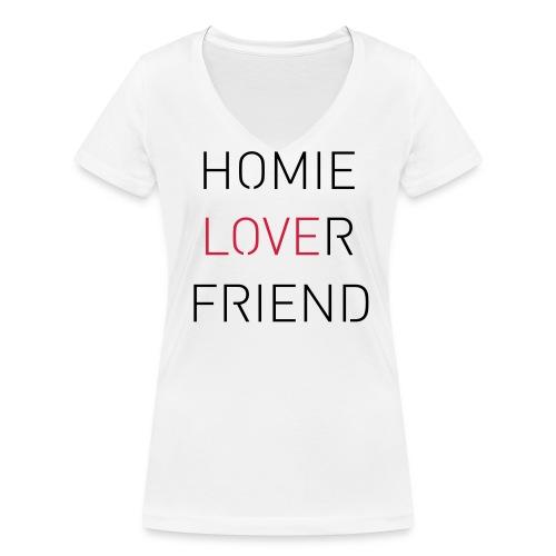 Lover Friend - Frauen Bio-T-Shirt mit V-Ausschnitt von Stanley & Stella