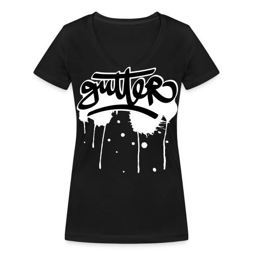 Gutter splatter (W) - Vrouwen bio T-shirt met V-hals van Stanley & Stella