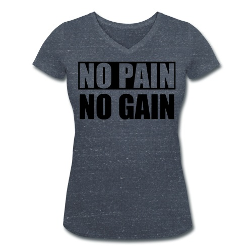 No Pain No Gain T-shirt med V-ringning Dam - Ekologisk T-shirt med V-ringning dam från Stanley & Stella