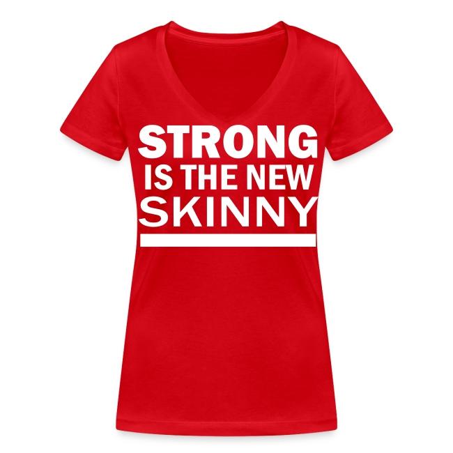 SITNS T-shirt med V-ringning Dam
